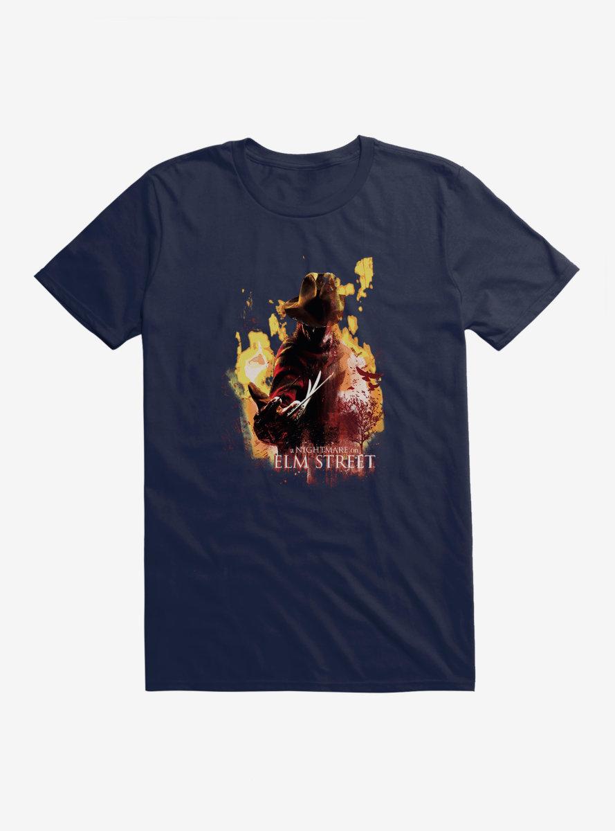 A Nightmare On Elm Street Freddy Flames T-Shirt