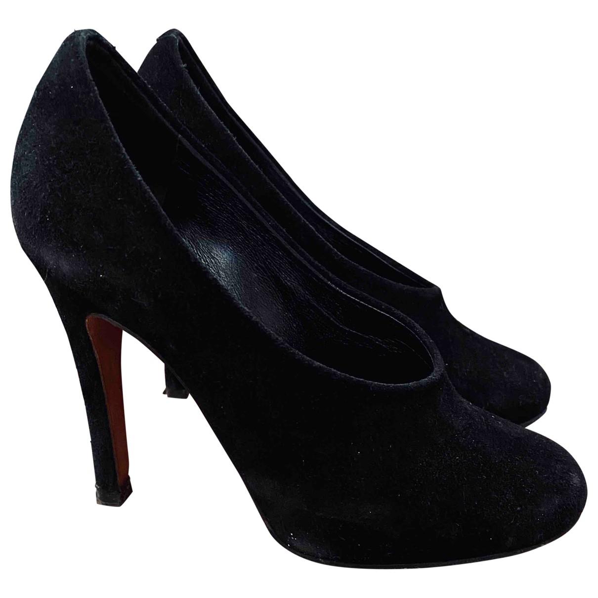 Chloé \N Black Suede Heels for Women 36 EU