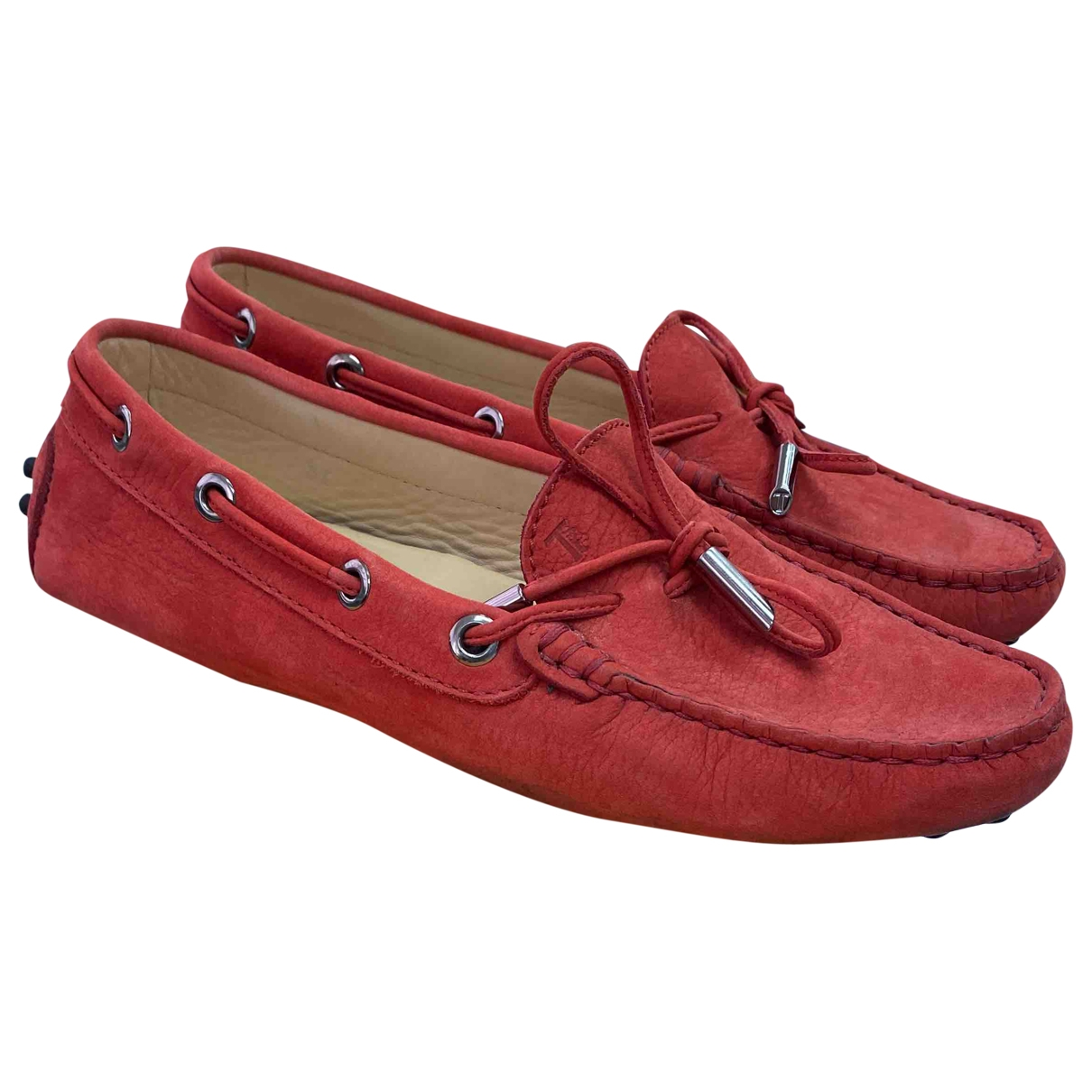 Tod's \N Orange Leather Flats for Women 35 EU
