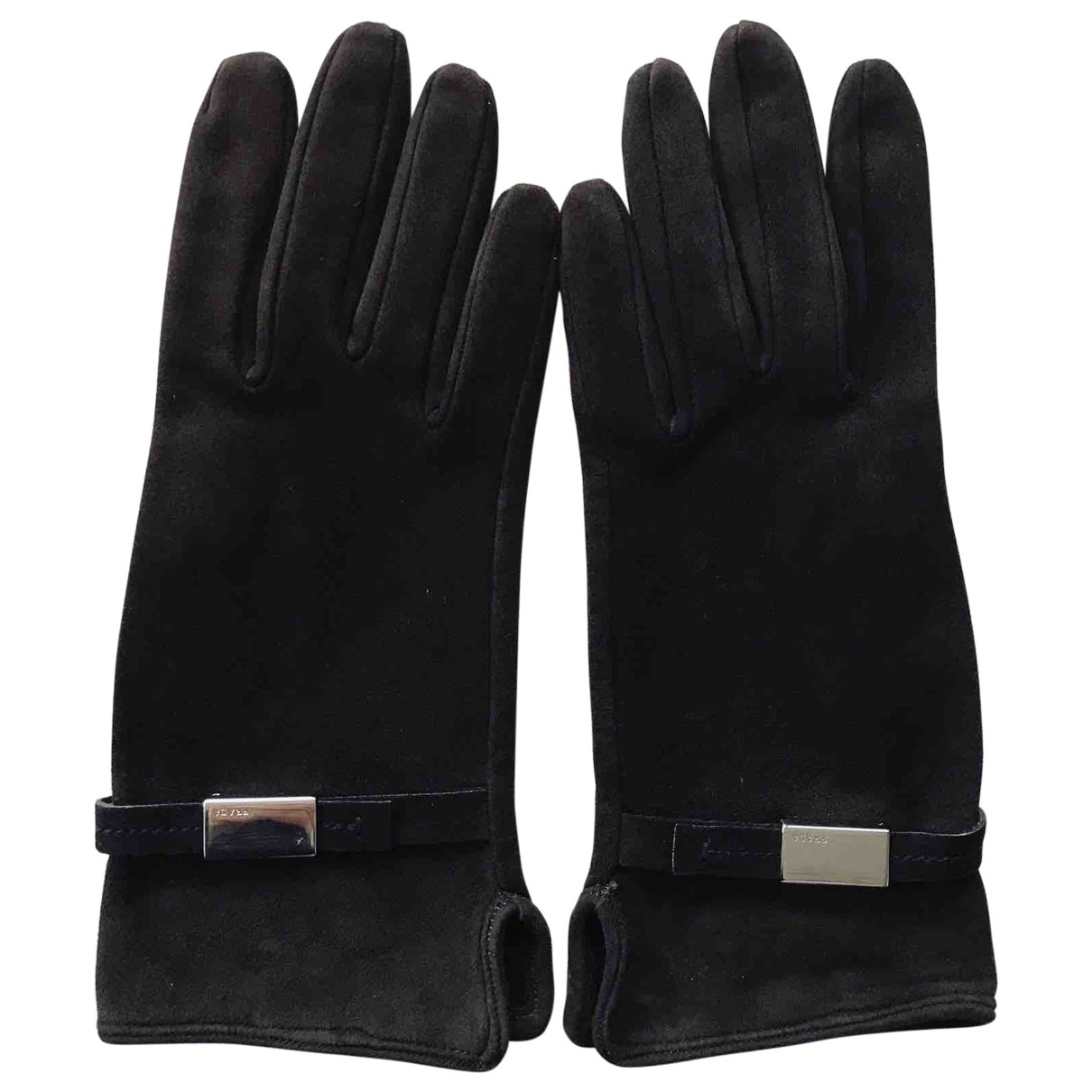 Prada \N Brown Suede Gloves for Women 17 cm