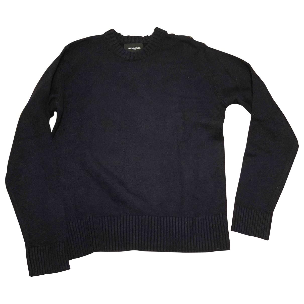 The Kooples \N Pullover.Westen.Sweatshirts  in  Blau Wolle