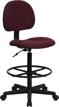 BT659 Collection BT-659-BY-GG Drafting Chair with Gas Cylinder Adjustable Height  Height Adjustable Foot Ring  Swivel Seat  Accordion Back Cover and