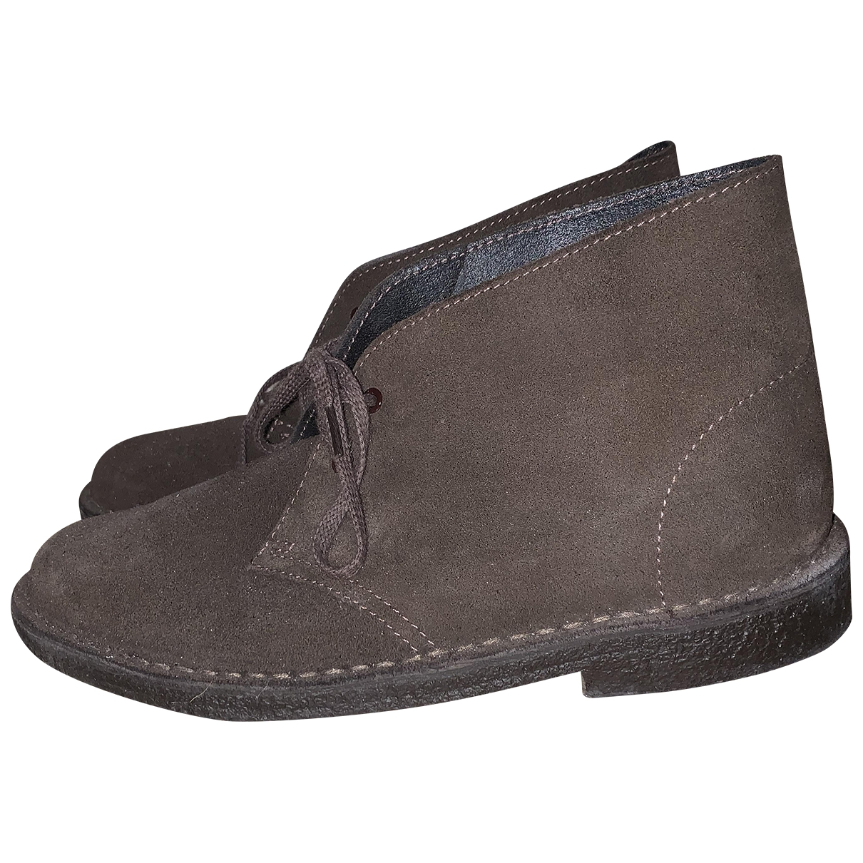 Clarks \N Brown Suede Lace ups for Women 38.5 EU
