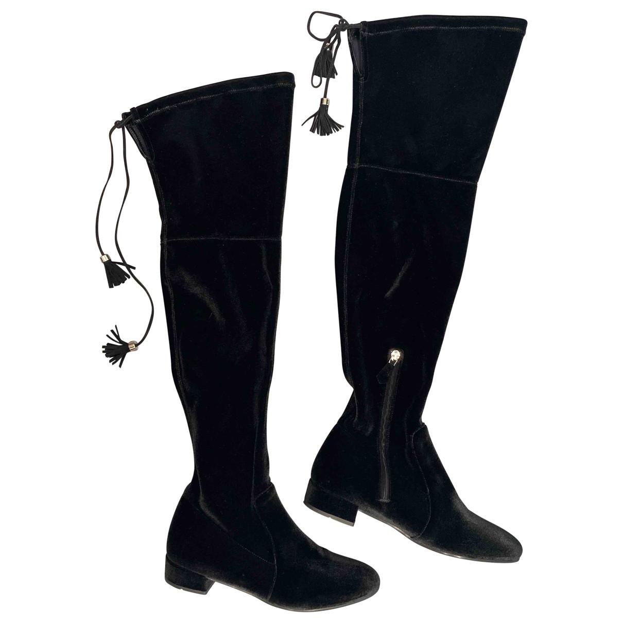 Prada \N Black Velvet Boots for Women 36 EU
