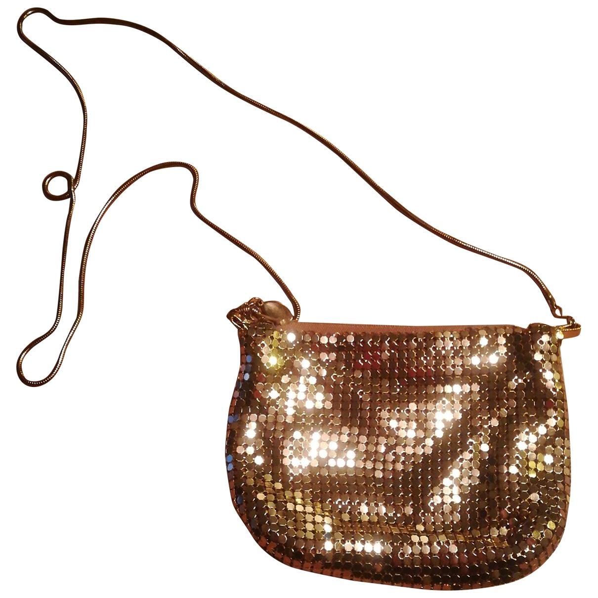 - Pochette   pour femme en metal - dore