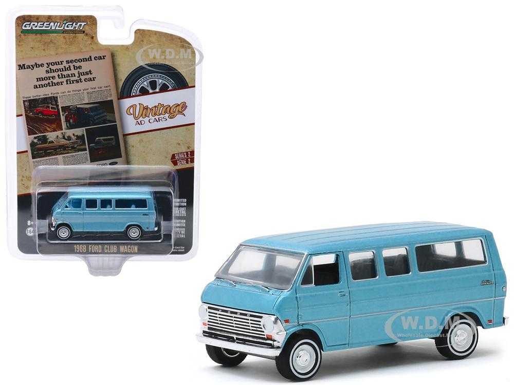 1968 Ford Club Wagon Light Blue