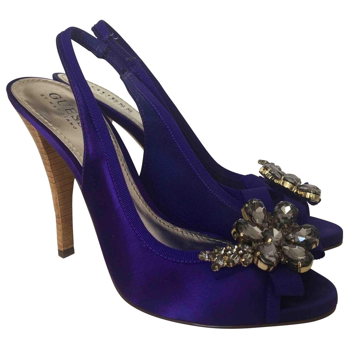 Guess \N Purple Cloth Heels for Women 38 EU