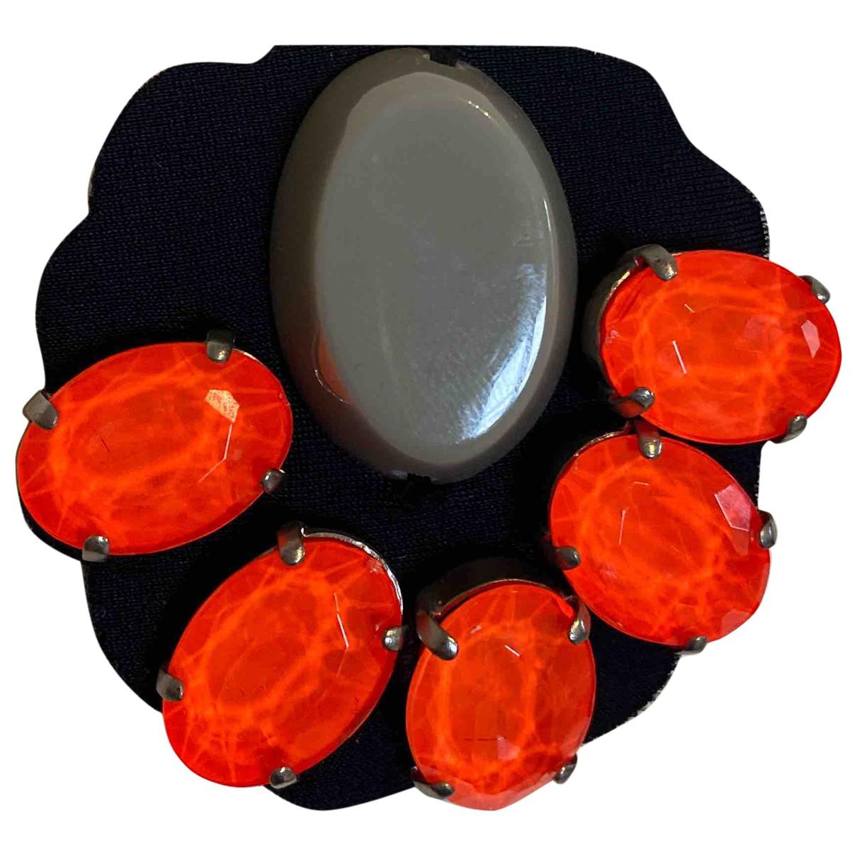 Marni \N Brosche in  Orange Metall