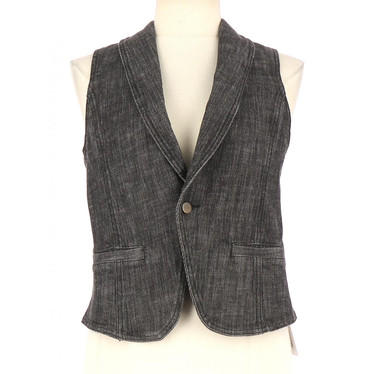 Joseph - Pull   pour femme en coton - gris