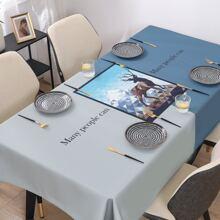 1 Stueck Tischdecke mit Hirsch Muster