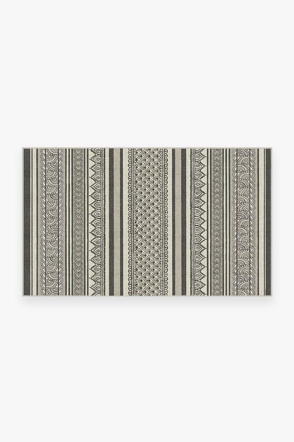 Washable Rug Cover & Pad | Nira Charcoal Rug | Stain-Resistant | Ruggable | 3'x5'