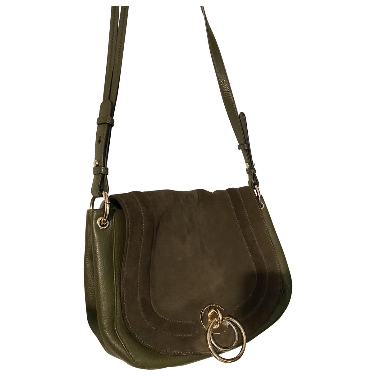 Diane Von Furstenberg \N Handtasche in  Khaki Leder