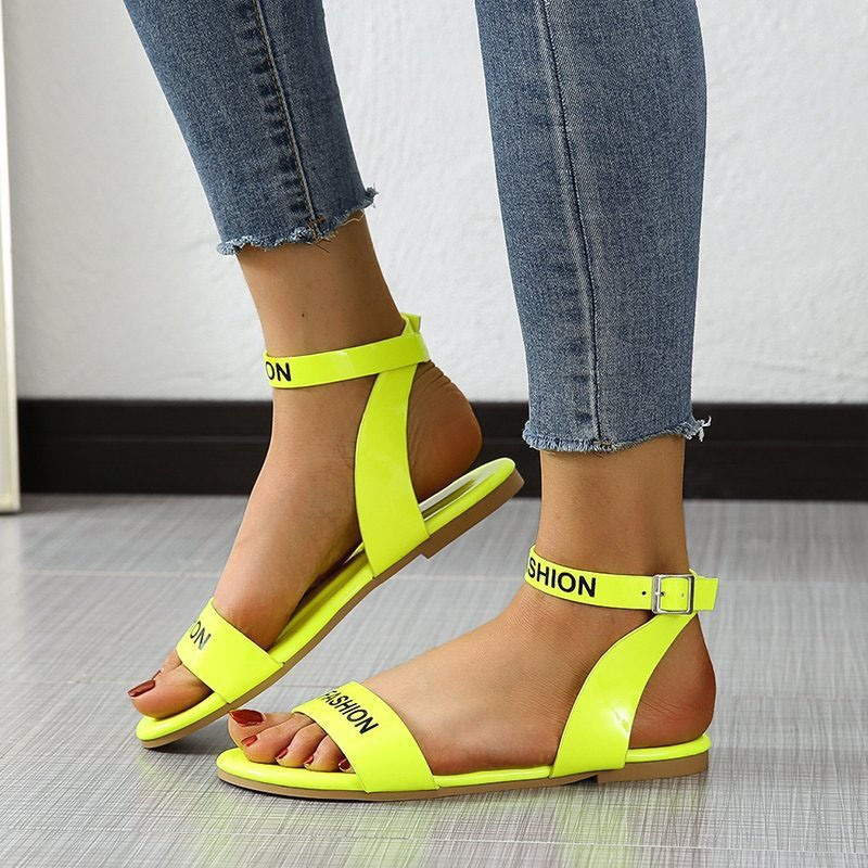 Ericdress Open Toe Buckle Flat With Western Sandals