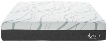 Elysse Collection MOD-5580-WHI 12 Gel Infused Hybrid King Size Mattress with Memory Foam CertiPUR-US Certified  Encased Supportive Coils and