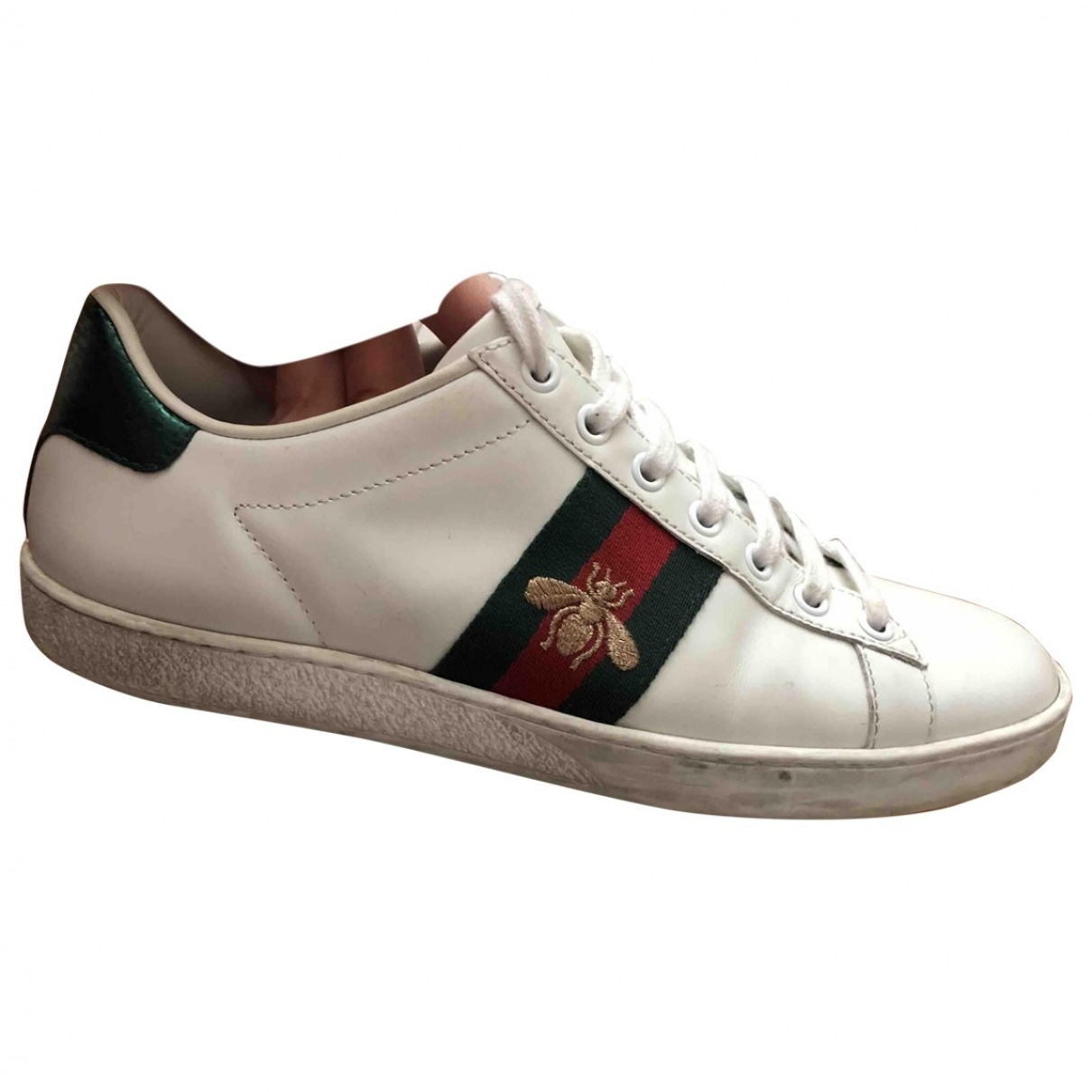 Gucci Ace Sneakers in  Weiss Fell