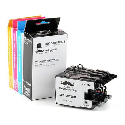 Compatible Brother LC79 cartouches encre noire/cyan/magenta/jaune de Moustache, 4-paquet combo - extra haut rendement de LC71