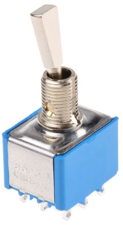 APEM 3PDT Toggle Switch, Latching, Panel Mount