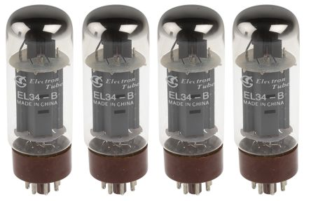 RS PRO Pentode Thermionic Valve, Octal Base, 25W, 6.3V, 36.5 (Dia.) x 115mm