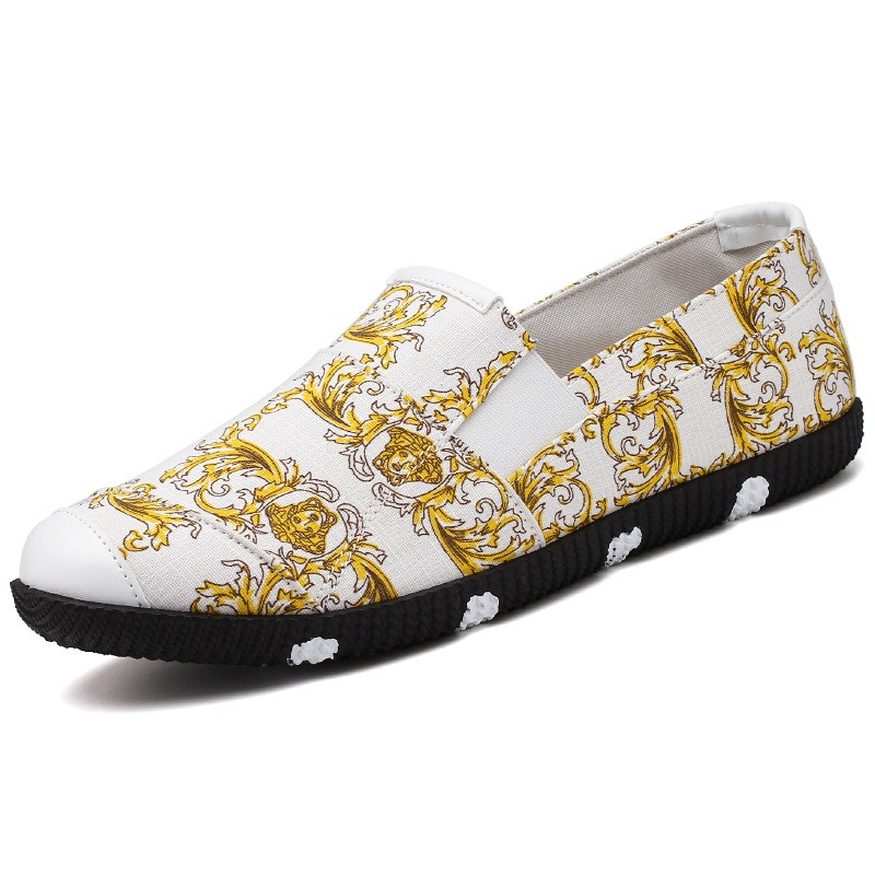 Ericdress PU Floral Slip-On Men's Casual Shoes