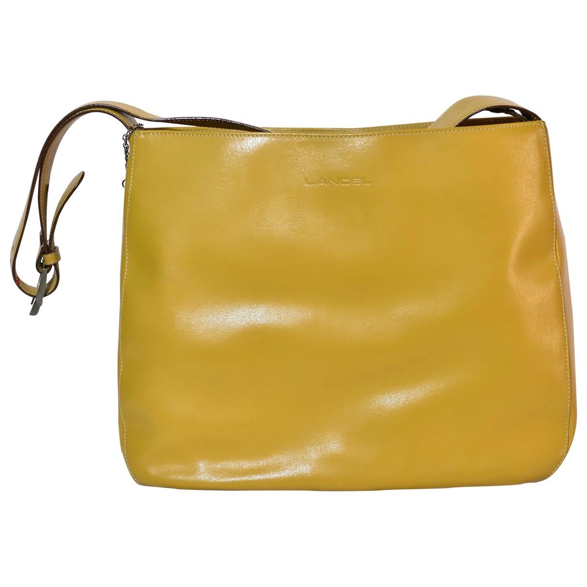 Lancel \N Yellow Leather handbag for Women \N