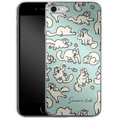 Apple iPhone 6 Silikon Handyhuelle - Simon´s Cat Green Pattern von Simons Cat