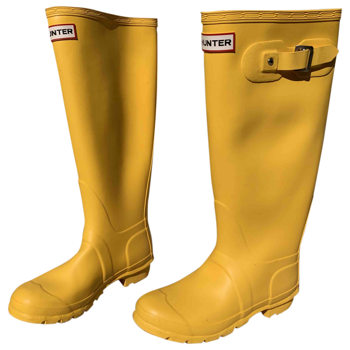 Hunter \N Stiefel in  Gelb Kunststoff
