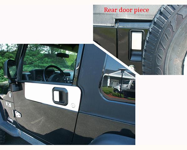 Quality Automotive Accessories Stainless Steel Door Handle Trim Jeep Wrangler 2006