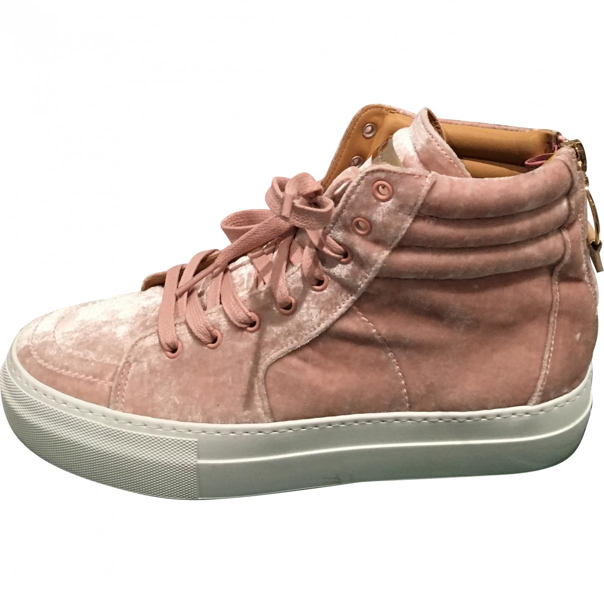 Buscemi - Baskets   pour femme en velours - rose