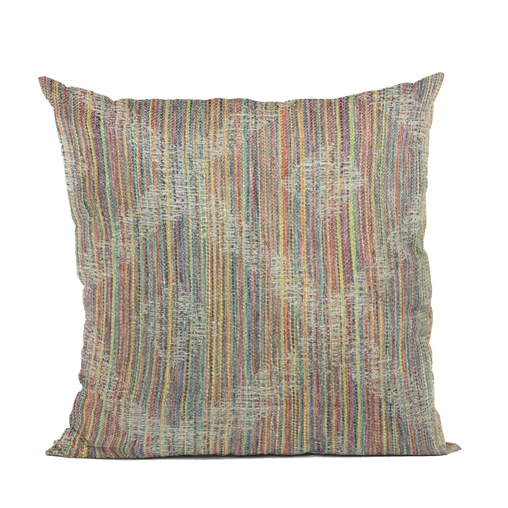 Plutus Multi-Color Diamond Abstract Luxury Throw Pillow (Double sided 12