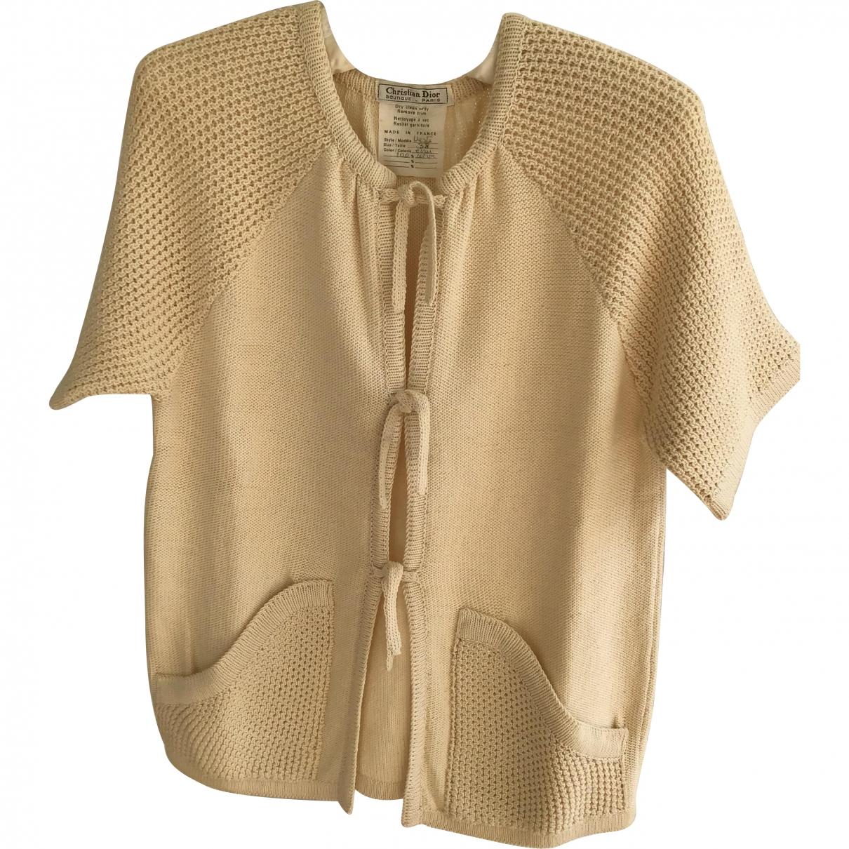 Dior - Pull   pour femme en coton - beige