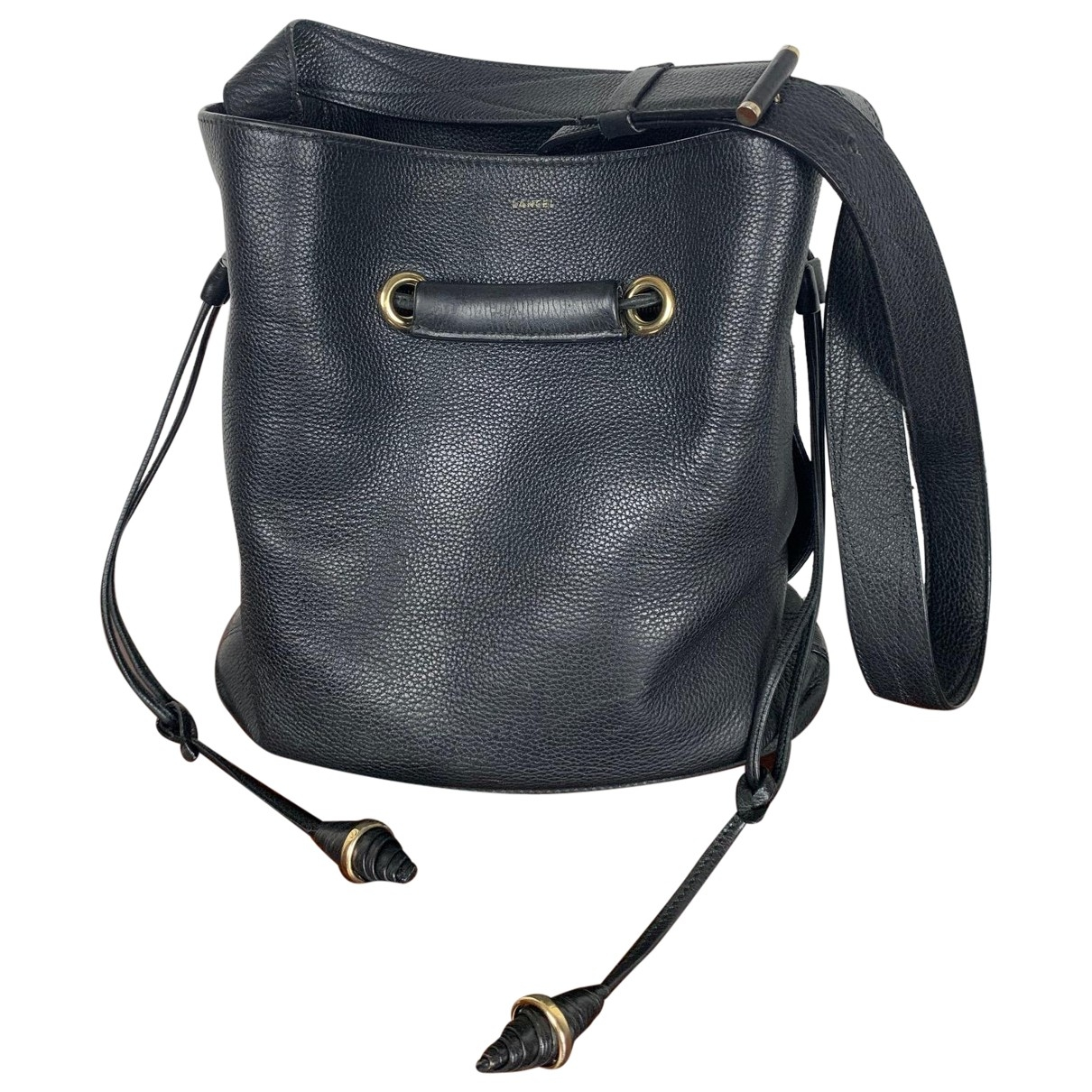 Lancel Huit Black Leather handbag for Women \N