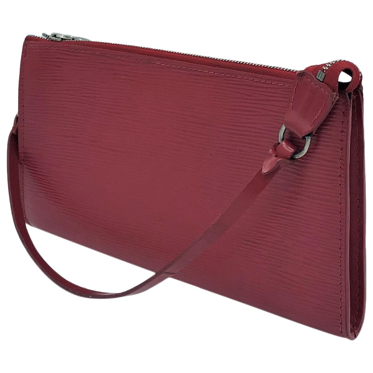 Louis Vuitton Pochette Accessoire Red Leather Clutch bag for Women \N