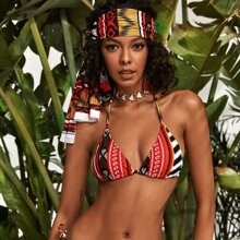 Tribal Halter Bikini Top