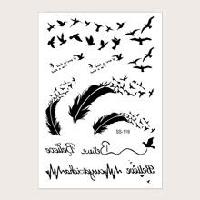 Tribal & Animal Pattern Tattoo Sticker