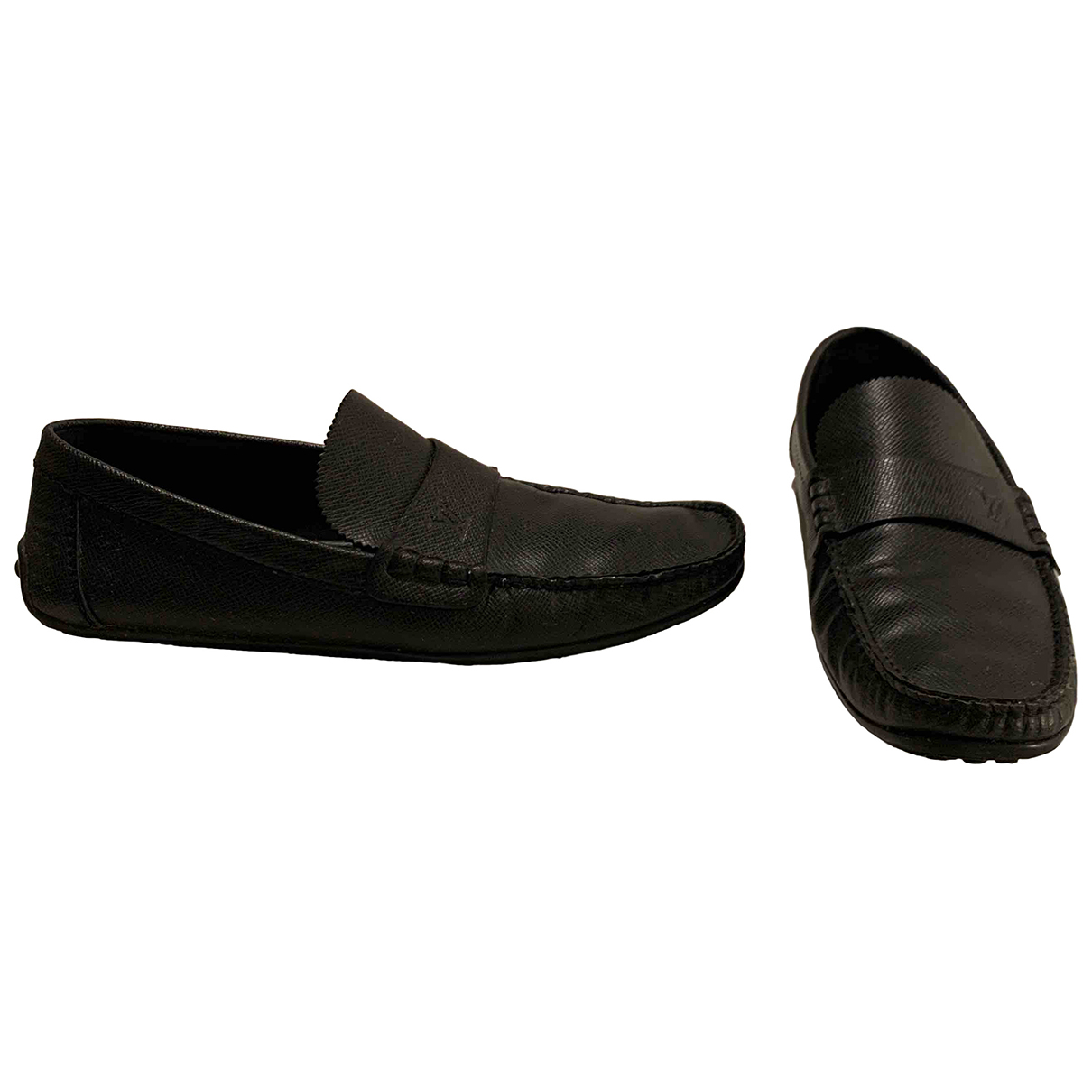 Louis Vuitton N Black Leather Flats for Men 42 EU