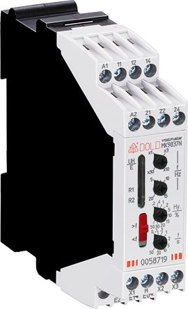 Dold Frequency Monitoring Relay With DPDT Contacts, 230 V ac Supply Voltage