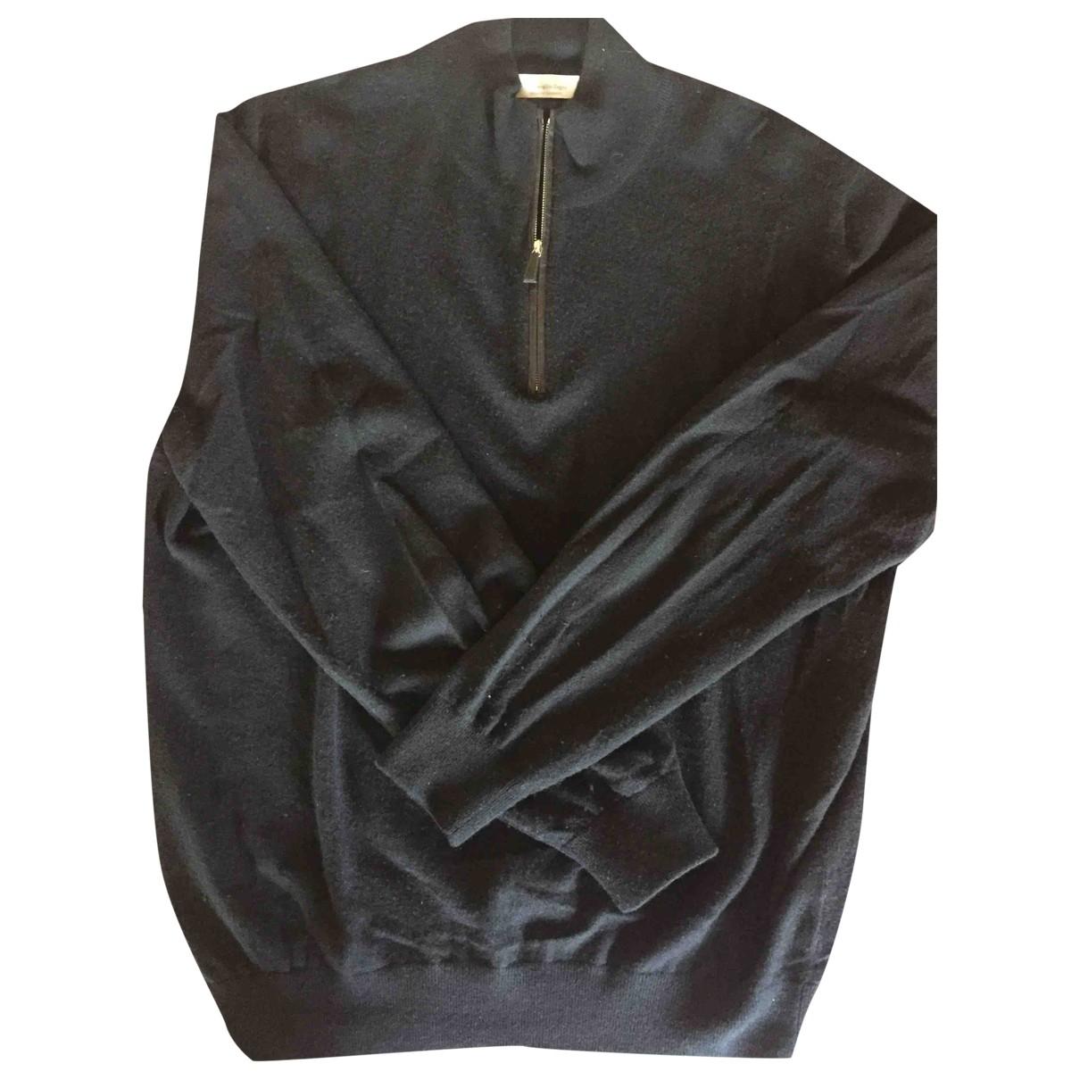 Ermenegildo Zegna \N Pullover.Westen.Sweatshirts  in  Schwarz Kaschmir