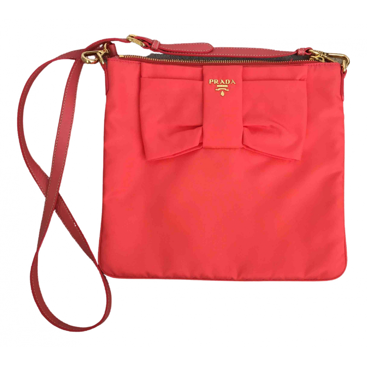 Prada \N Orange Cloth handbag for Women \N