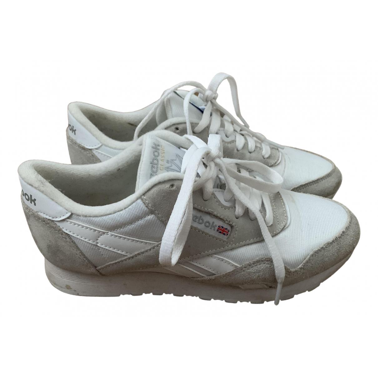 Reebok \N Sneakers in  Beige Polyester