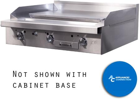 P36CPPP Platinum Series 36 Griddle with Three Standard Burners and Plancha Plate  Up to 48000 BTUs (NG)/46500 BTUs (LP)  Cabinet