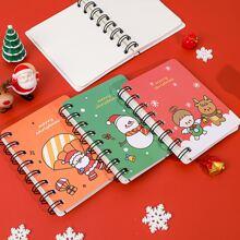 1pack Christmas Pattern Cover Random Notebook