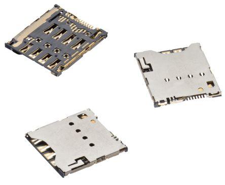 Wurth Elektronik 8 Way Micro SIM Card Connector With Solder Termination (1000)