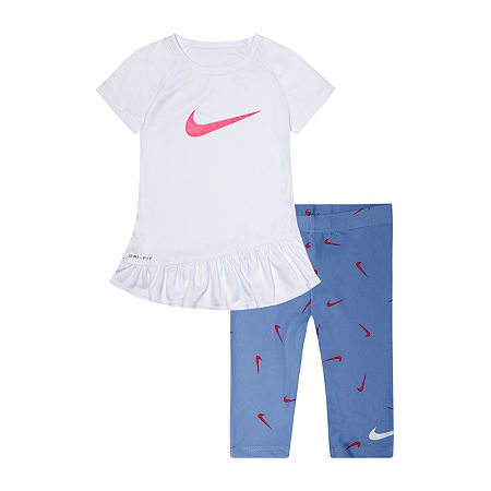Nike Toddler Girls 2-pc. Legging Set, 4t , Gray