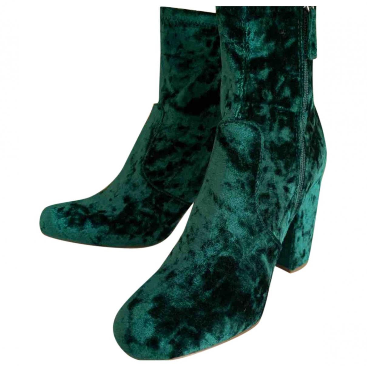 Steve Madden - Boots   pour femme en velours - vert