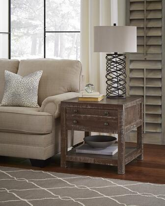 BM187684 Solid Wood End Table with One Drawer and One Shelf