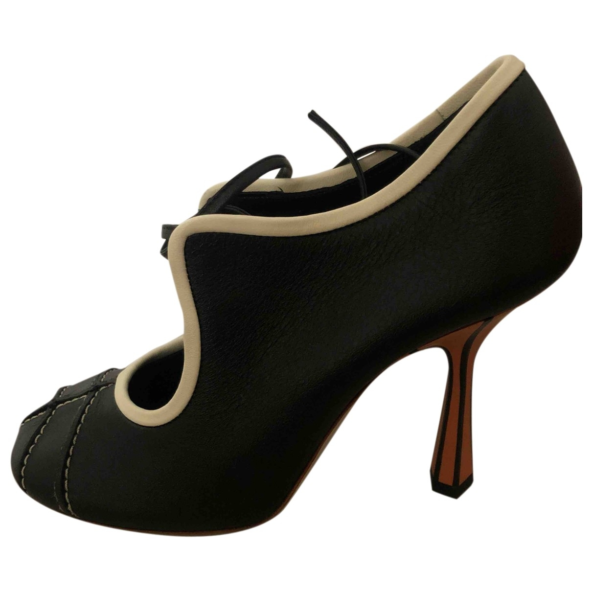 Marni \N Black Leather Heels for Women 38 EU