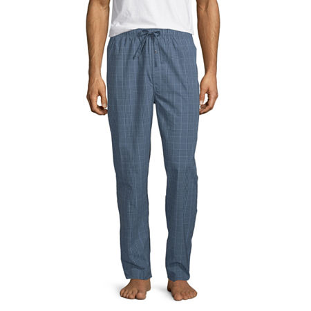 Stafford Men's Woven Straight Fit Pajama Pants, Medium , Blue