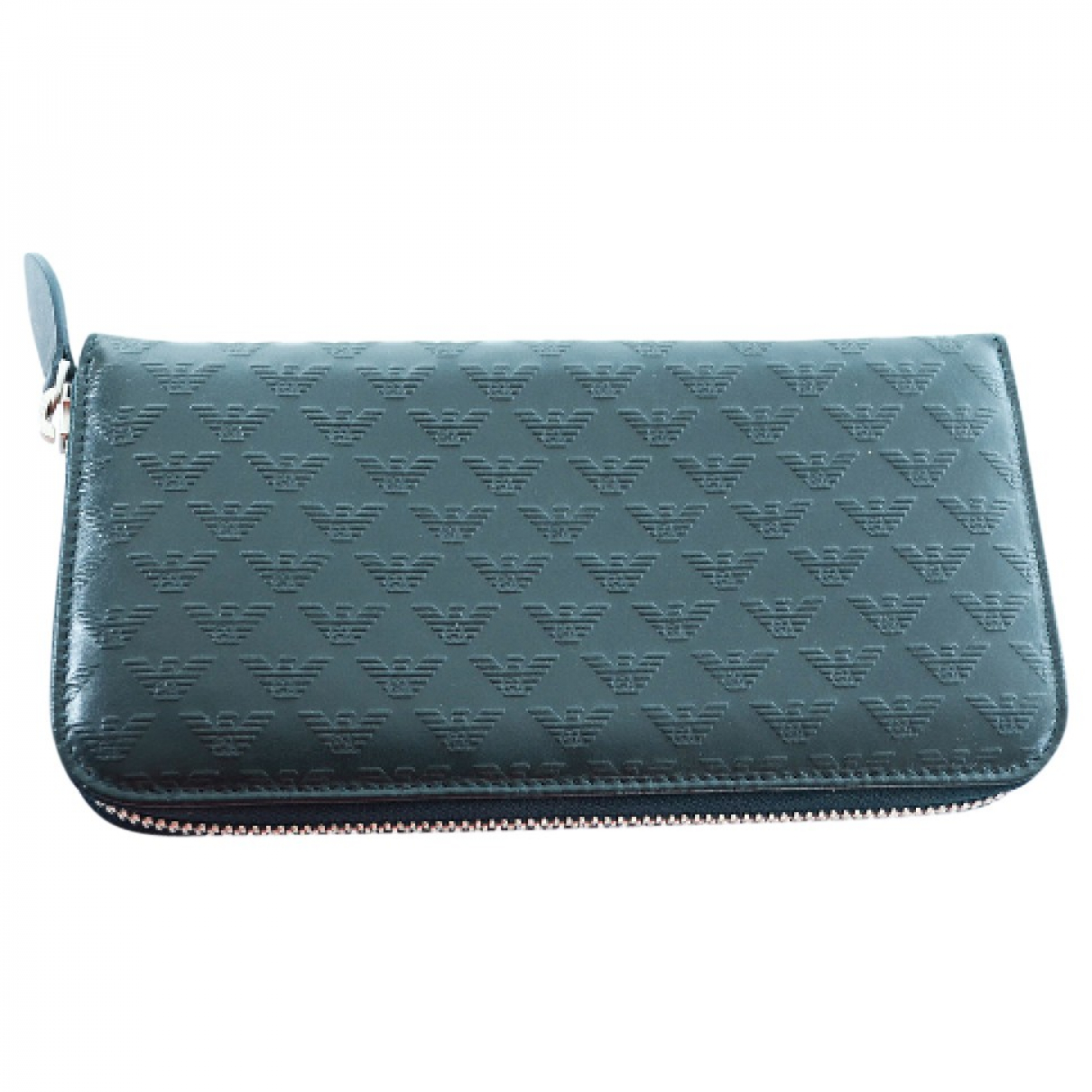 Emporio Armani \N Green Leather Small bag, wallet & cases for Men \N