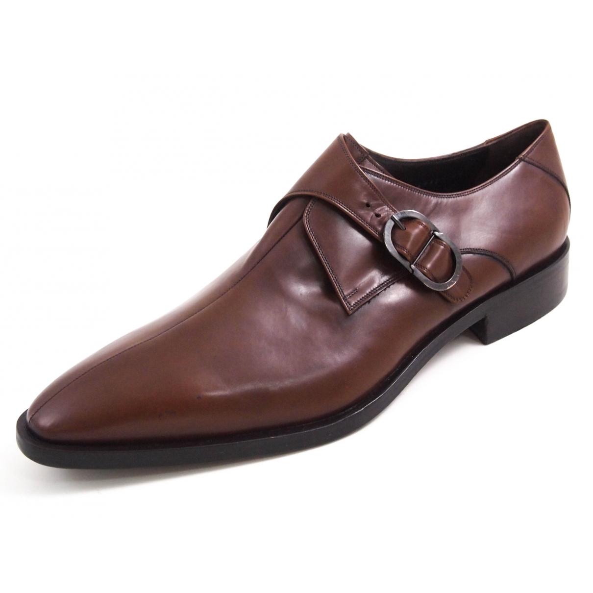 Baldinini - Derbies   pour homme en cuir - marron