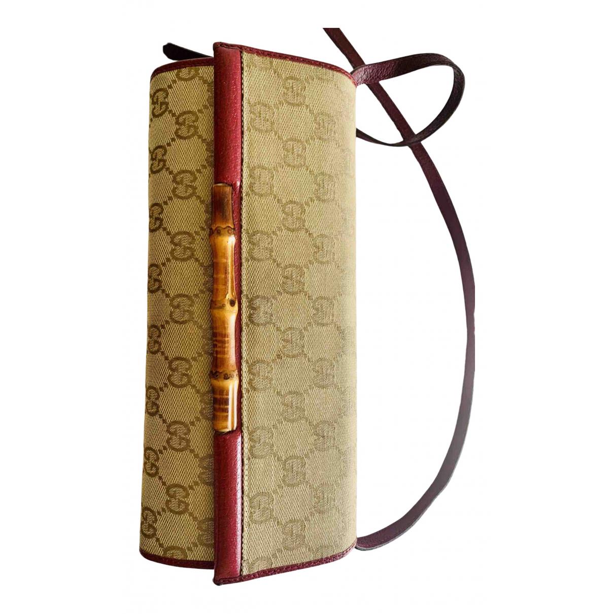 Gucci Bamboo Beige Cloth Clutch bag for Women N